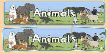 Animals Display Banner - animals, dog, cat, cow, horse, rabbit, display, banner, sign, poster, pets