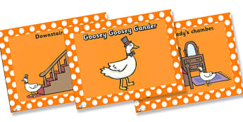 Goosey Goosey Gander PowerPoint - goosey goosey gander, nursery rhymes, nursery rhyme powerpoint, goosey goosey gander nursery rhyme powerpoint, rhyme