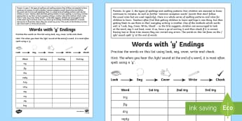 Year 2 Spelling Practice /igh/ Spelt 'y' Homework Activity Sheet - ks1, English, year 2, practice, home learning, home work, Worksheet, homework, practise, SPaG, spell