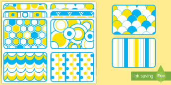 Blue, Yellow, and White High Contrast Cards - EYFS, Visual Stimulation, Babies, high contrast, images for babies, concentrate, concentration, newb