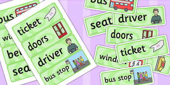 On the Bus Role Play Labels - transport, roleplay, props, signs