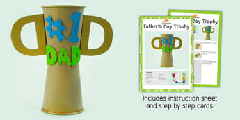 Father's Day Trophy Craft Instructions - fathers day, trophy, craft
