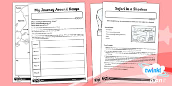 PlanIt - Geography Year 2 - Sensational Safari Unit Home Learning Tasks - planit, geography, safari, year 2