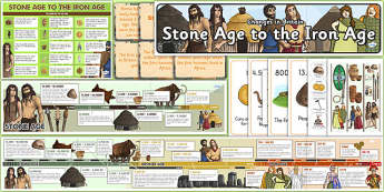 Stone Age to Iron Age Display Pack - stone age, iron age, display