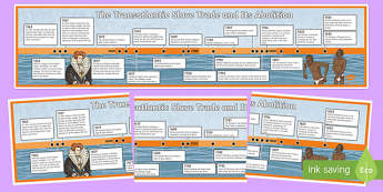 Slave Trade Timeline Activity Sheets, worksheet