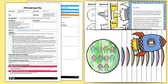 Number Planets EYFS Adult Input Plan and Resource Pack - number planets, eyfs, adult, input, plan, resource pack