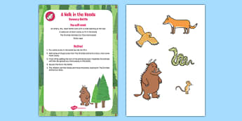 A Walk in the Woods Sensory Bottle to Support Teaching on The Gruffalo - The Gruffalo, EYFS