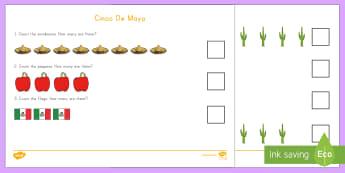 Cinco de Mayo Counting Activity - Cinco de Mayo, counting,