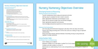 Welsh Nursery Numeracy Objectives Overview - Asesu mewn Ysgolion Cymraeg,  Assessment, asesiad, Asesiad,  deilliannau'r cwricwlwm cenedlaethol,