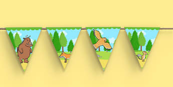The Gruffalo Display Bunting - the gruffalo, display bunting, bunting for display, themed bunting, bunting, bunting for display, classroom display, display
