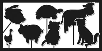 Animal Silhouette Cut Outs - animal, silhouette, animal silhouette, cut outs, cut-outs, cut and stick, animal cut outs, silhouette cut outs, cutting