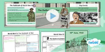 PlanIt - History LKS2 - World War II Lesson 1: The Outbreak of War Lesson Pack - word war 2, history, war