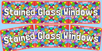 Stained Glass Windows Display Banner - stained glass windows, display banner, display, banner