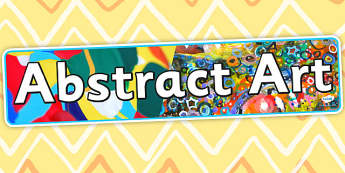 Abstract Art Display Banner - artist, artist, header, display