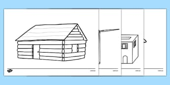 Homes Around the World Colouring Sheets - house, home, building, colouring, activity, fine motor skills, brick, stone, saxon, roman, iron age, mud hut