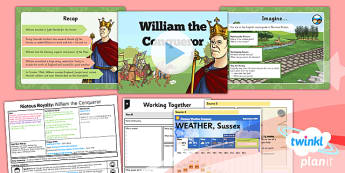 PlanIt - History LKS2 - Riotous Royalty Lesson 1: William the Conqueror Lesson Pack - Norman, Britain, England, Hastings, 1066