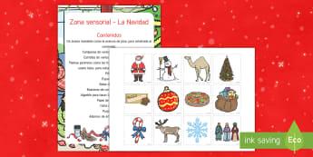 Zona sensorial: La Navidad Zona sensorial - zona sensorial, navidad, navidades, sentidos.,Spanish
