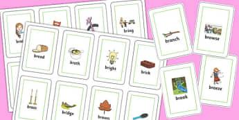 BR Flash Cards - br sound, flash cards, flash, cards, sound, br, sen