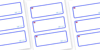 Great Britain Themed Editable Drawer-Peg-Name Labels (Blank) - Themed Classroom Label Templates, Resource Labels, Name Labels, Editable Labels, Drawer Labels, Coat Peg Labels, Peg Label, KS1 Labels, Foundation Labels, Foundation Stage Labels, Teachin