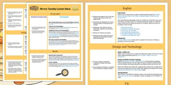 KS1 Shrove Tuesday Lesson Ideas - plan, pancakes, pancake, lessons