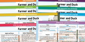 EYFS Farmer and Duck Lesson Plan and Enhancement Ideas - farmer duck, planning, plans