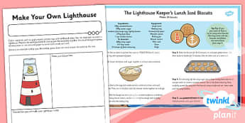 PlanIt - DT KS1 - The Lighthouse Keeper's Lunch Box Unit Home Learning Task