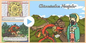 Chinesisches Neujahr PowerPoint - Chinese New Year, China, calendar, Chinesisch Neujahr, Kalender, China,German