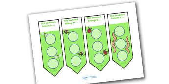Minibeast Reward Bookmarks (30mm) - Minibeast Reward Bookmarks (30mm), reward bookmarks, bookmark, reward, 30mm, 30 mm, stickers, twinkl stickers, award, certificate, well done, behaviour management, behaviour, minibeasts, fly, caterpillar, beatle