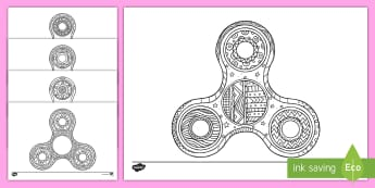 Fidget Spinner Mindfulness Colouring Pages - relax, independent, fun, calm, wet play,