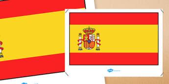 Spain Flag Display Poster - spain flag, spain, display poster, flag, display