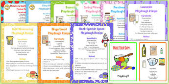 Childminder Playdough Recipe Pack - childminder, playdough, recipe, pack