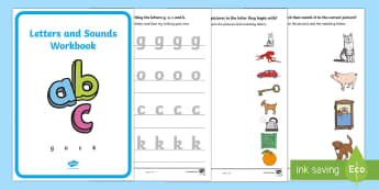Letters and Sounds (g, o, c, k) Activity Booklet - Handwriting, English, Language, literacy, activity sheet, activity booklet, letter formation, phonic
