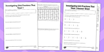 Year 6 Add Fractions Investigation Activity Sheet - new c urriculum, year 6, fractions, add fractions, add, addition, maths, worksheet