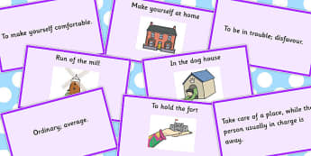Building Idiom Matching Cards - Build, Idiom, Match, Idioms