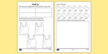 Find a Quarter Activity Sheet - find, quarter, worksheet, work, sheet