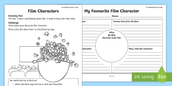 Film Character Fact File Activity Sheet - Amazing Fact Of The Day, activity sheets, powerpoint, starter, star wars, space wars, morning activi