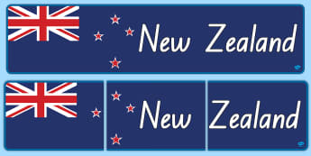 New Zealand Flag Banner - New Zealand Social Sciences, NZ, Social Studies, banner, flag, display