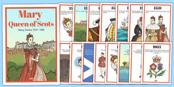 Mary Queen of Scots Timeline Display Posters - timeline, display