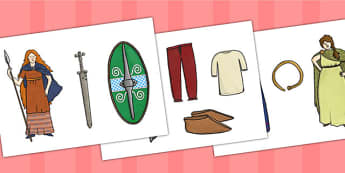 The Celts Display Picture Cut Outs - the celts, display picture, cut outs, cutouts, cut-outs, cut and stick, cutting activities, cutting games, display