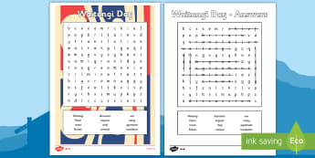 Waitangi Day Word Search - waitangi day, word search, wordsearch, waitangi, treaty