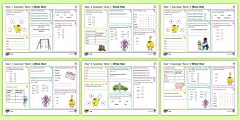 Year 1 Summer Term 1 SPaG Activity Mats - KS1, Key Stage 1, key stage one, year 1, Y1, year one, SPaG, spelling, punctuation, grammar, reading
