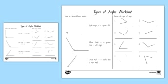 Acute and Obtuse Angles Activity Sheet - angles, mathematics, acute, obtuse, mathematics, geometry