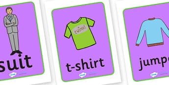 Clothes Display Posters - Clothes shop Role Play, clothes shop resources, shop, till, buy, money, clothes, ourselves, shoes, role play, display, poster, Display Posters, A4, display, posters