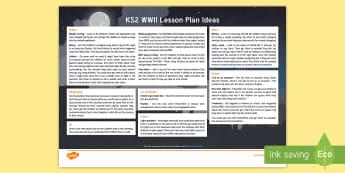World War Two Lesson Plan Ideas KS2 - ww2, world war two, ideas