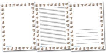 Mouse Landscape Page Borders- Landscape Page Borders - Page border, border, writing template, writing aid, writing frame, a4 border, template, templates, landscape