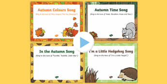 Autumn Songs and Rhymes PowerPoints Pack