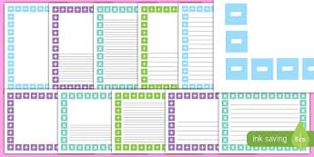 Maths Symbols Page Borders - maths symbols, page borders, border, writing frame
