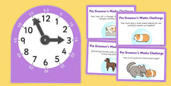 Pet Groomers Role Play Clock and Time Maths Activity - role-play