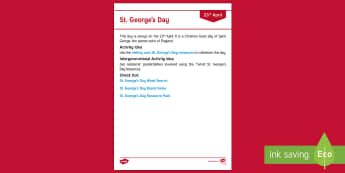 St. George's Day Adult Guidance - Calendar Planning April 2017, Activity Coordinators, Support, Planning, Elderly Care, Care Homes, St
