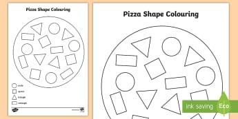 Shape Pizza Colouring Activity - shape, pizza, colouring activity